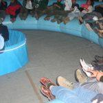 Presentación de El Mundo Anillo - Presentación al público de la infografía en el Planetario de Trujillo